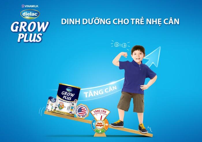 Sữa Dielac Grow Plus 2+ xanh cho trẻ nhẹ cân