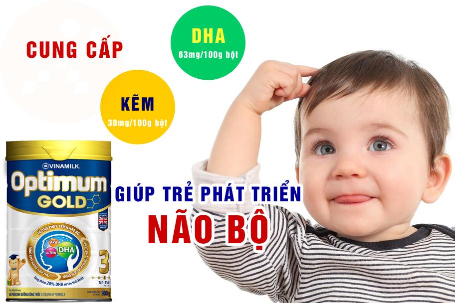 Sữa Optimum Gold 3 giúp phát triển não bộ