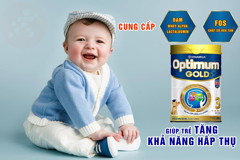 Sữa Optimum Gold 3 giúp trẻ tăng khả năng hấp thu