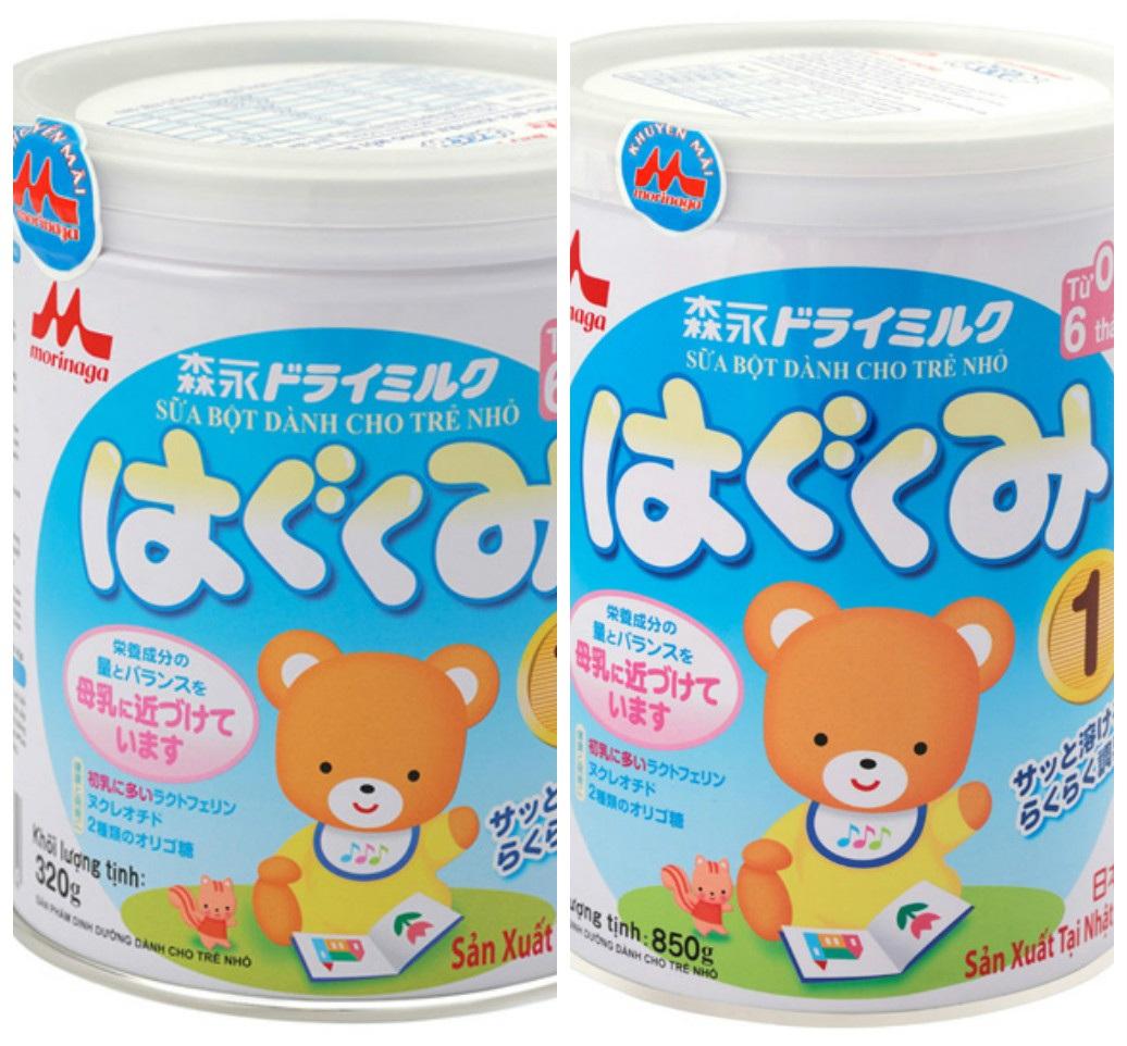 Sữa Morinaga số 1 hộp 850g và hộp 320g