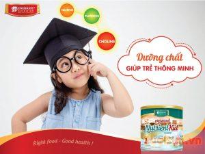 Sữa Nutrient Kid giúp bé phát triển trí não tối ưu nhất