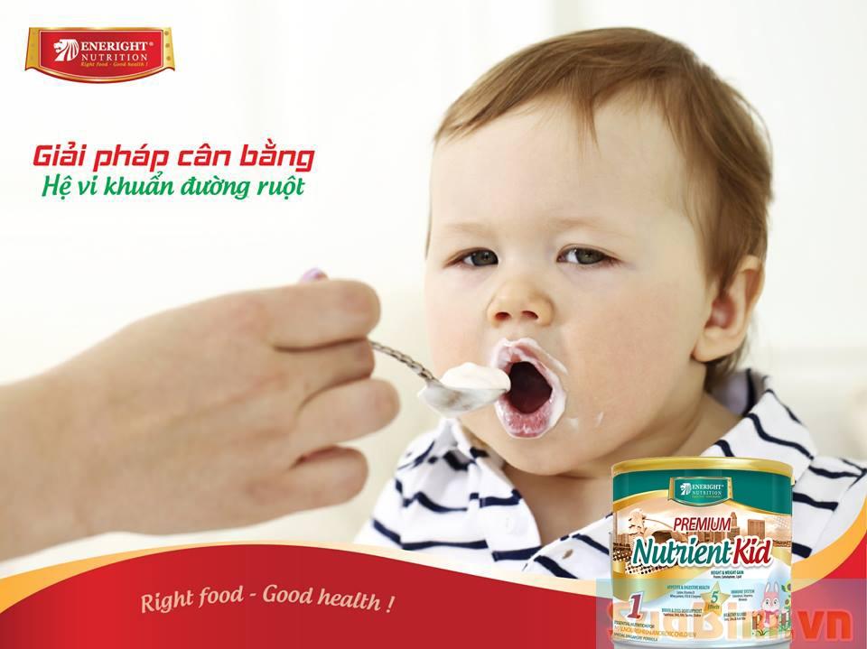 Sữa Nutrient Kid giúp phát triển hệ tiêu hóa khỏe mạnh