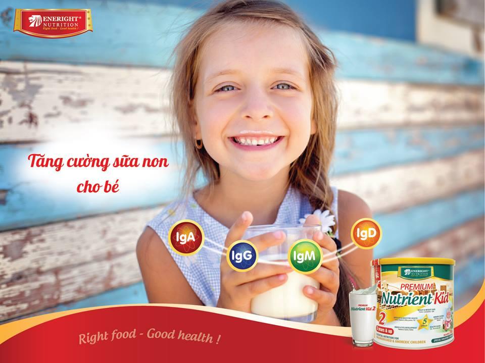 Sữa Nutrient Kid tăng cường sữa non tăng sức đề kháng