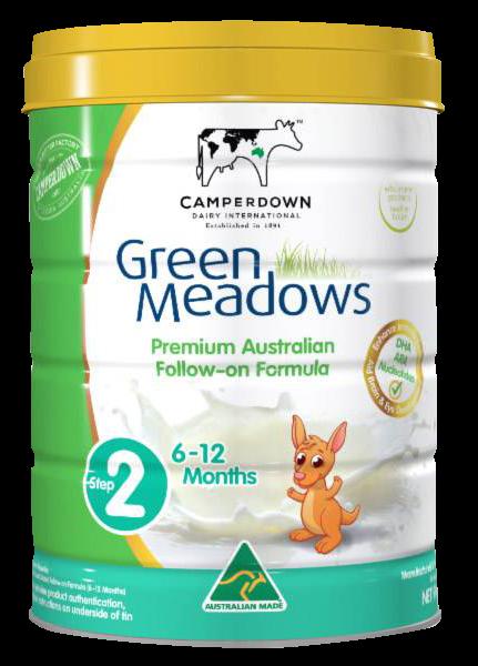 Sữa Green Meadows số 2 nhập khẩu nguyên lon từ Úc