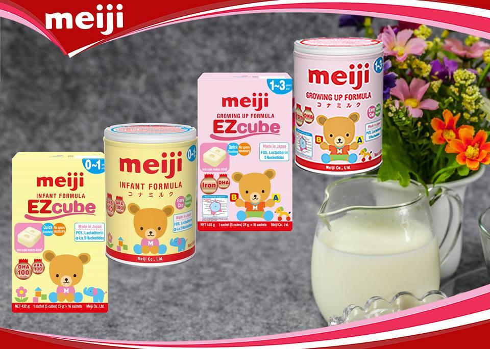 Các loại Sữa Meiji nhập khẩu