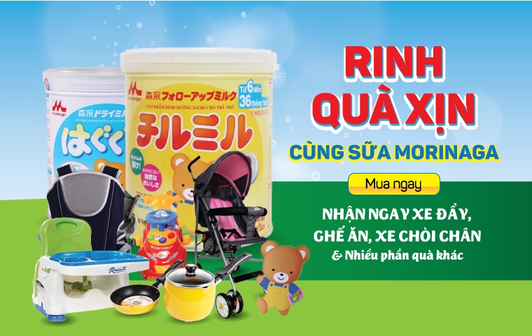 Sữa morinaga số 2 luôn có quà khuyến mại theo chương trình của hãng