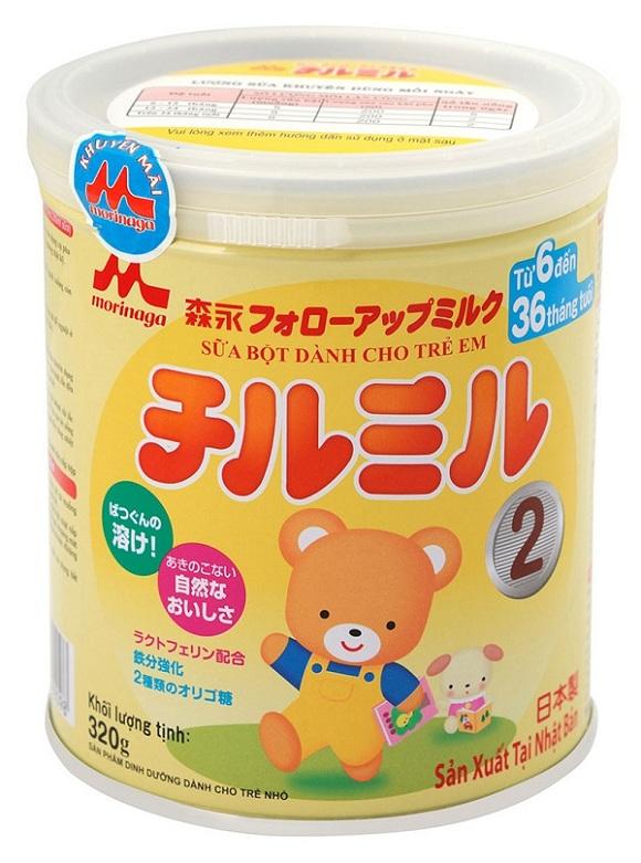 Sữa Morinaga số 2 dinh dưỡng đặc chế cho bé 6-36 tháng tuổi