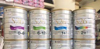 Sữa S26 của Úc các số nhập khẩu nguyên lon tăng cân tốt cho bé