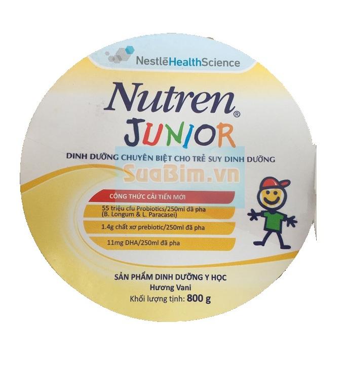 Tem phụ hộp sữa nutren junior