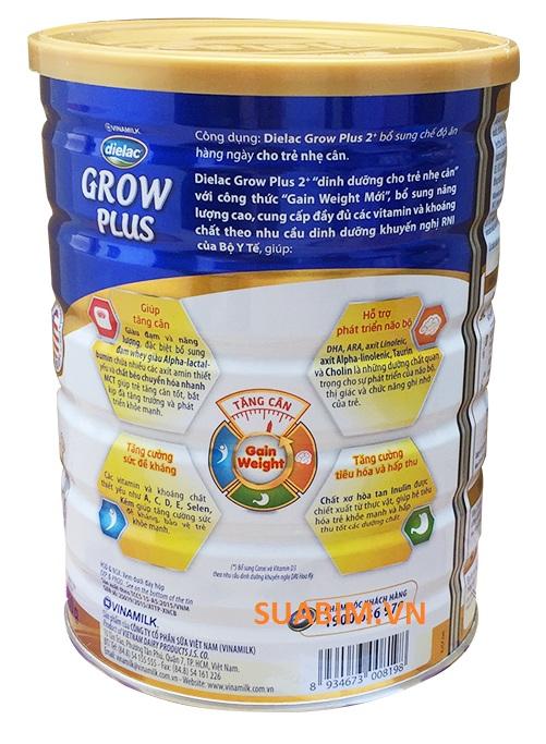 Sữa Dielac Grow Plus 2+ xanh