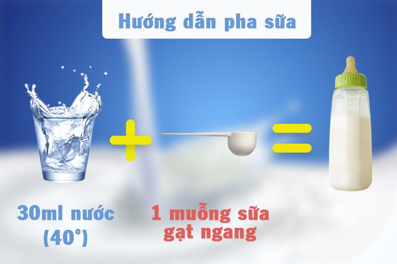 Hướng dẫn cách pha sữa Frisolac Gold 1