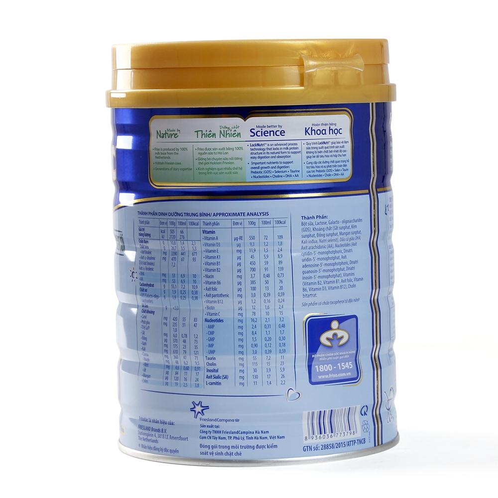Thành phần dinh dưỡng Sữa Frisolac Gold 1