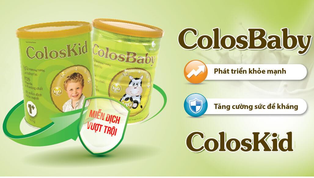Sữa Colosbaby dinh dưỡng giúp bé tăng sức đề kháng vượt trội