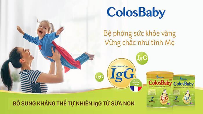 Sữa non colosbaby tăng sức đề kháng bảo vệ bé