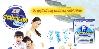 Đối tượng bổ sung canxi cá tuyệt của nhật