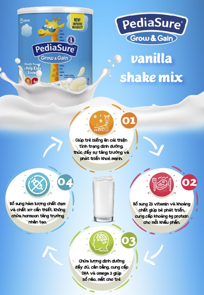 sữa pediasure mỹ grow and gain có tốt không