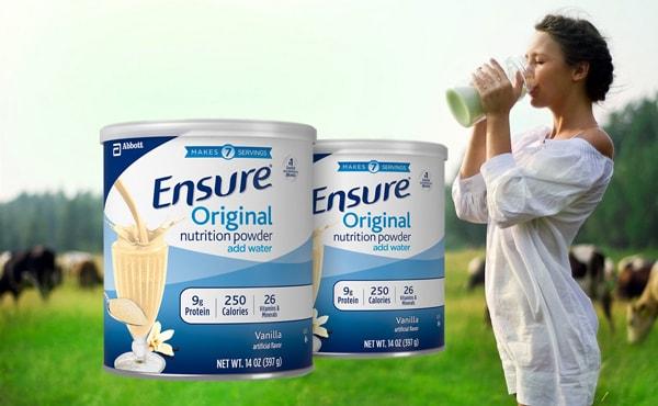 2 ly sữa ensure mỹ xách tay mỗi ngày