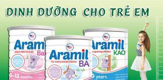 Sữa Aramil giá trị dinh dưỡng vượt trội cho bé