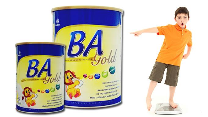 Sua BA gold tang can tot