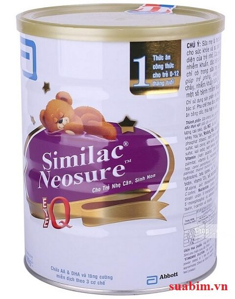 Sữa Similac Neosure 850g dành cho trẻ sinh non, thiếu tháng hoặc chậm tăng cân