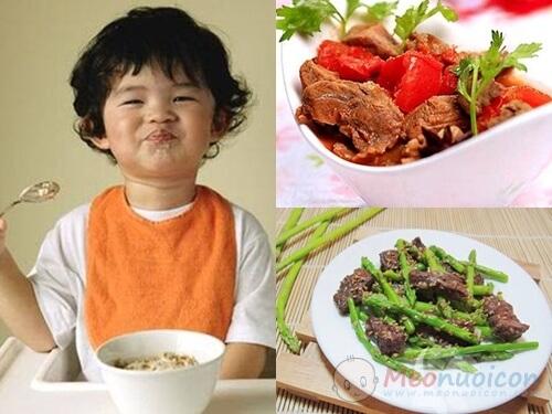 Thịt bò một thực phẩm xuất sắc cho chiều cao cân nặng của trẻ