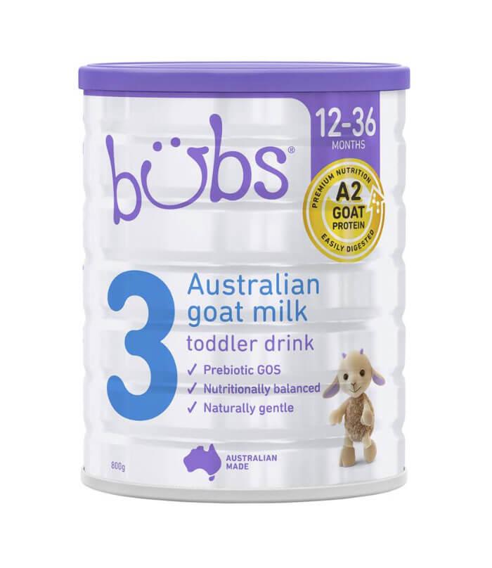 Sữa Dê Bubs số 3 cho trẻ trên 1 tuổi