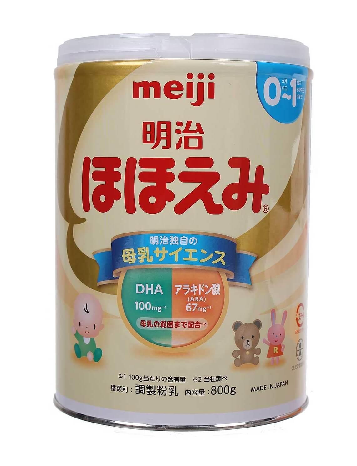 Sữa meiji số 0 800g