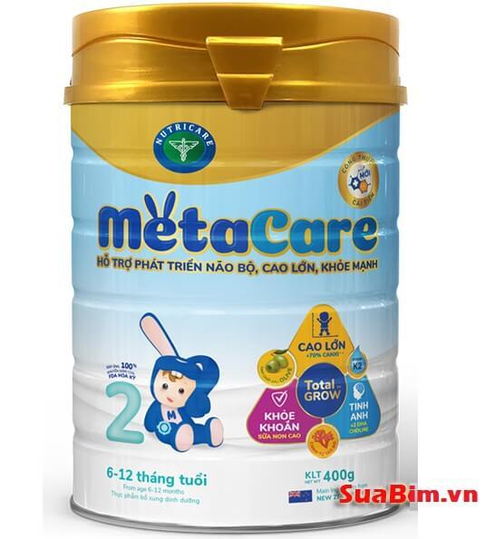 Sữa metacare 2 cho bé 6-12 tháng phát triển toàn diện