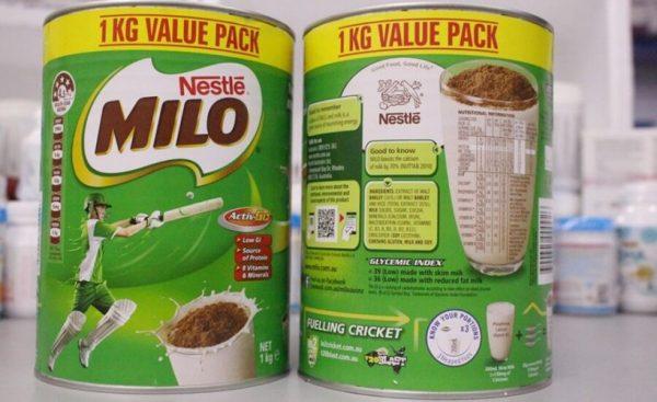 Sữa milo úc 1kg nhập khẩu