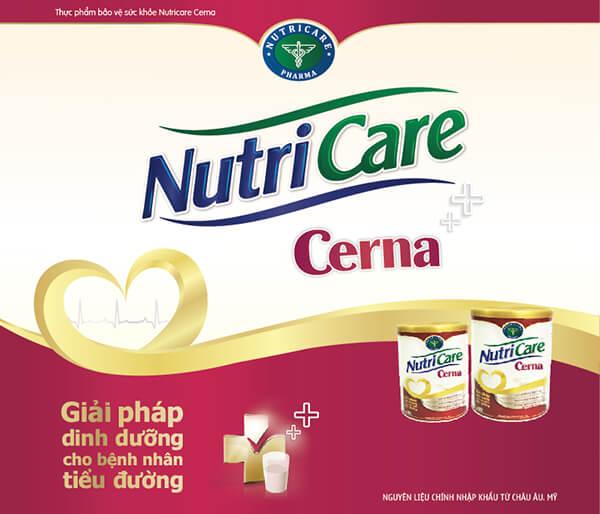 Sữa nutricare Cerna cho người tiểu đường phục hồi sức khỏe
