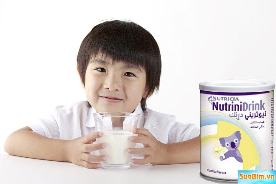 Sữa nutrinidrink giúp bé hết biếng ăn tăng cân nhanh