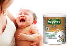 sữa pregestimil lipil cho trẻ dị ứng đạm sữa bò