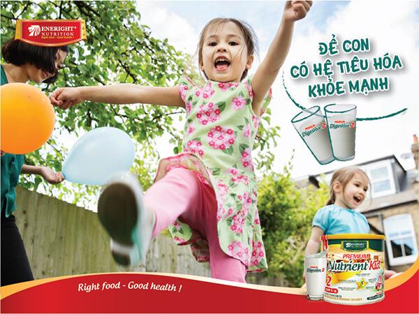 Sữa premium digestive giúp bé xây dựng hệ tiêu hóa