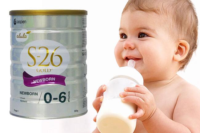 Sữa s26 cho trẻ sơ sinh từ 0-6 tháng
