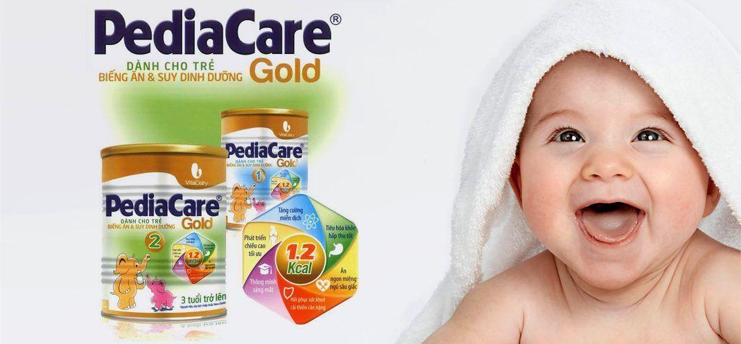 Sữa pediacare gold giúp bé tăng cân nhanh