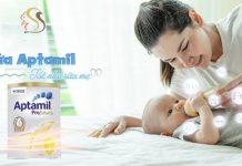 Sữa aptamil cho trẻ sơ sinh có tốt không